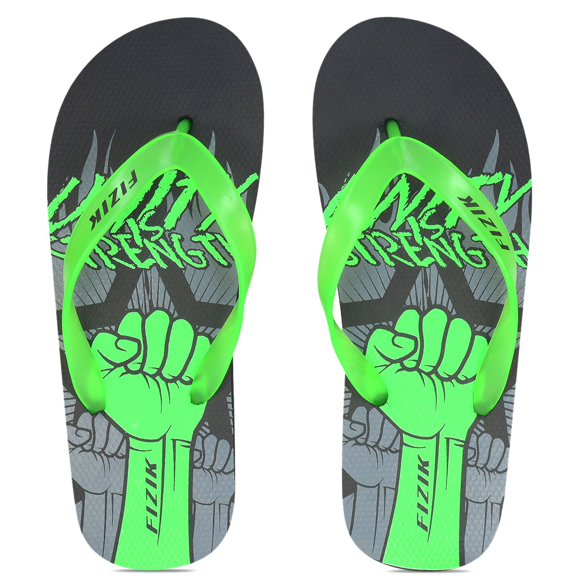 3a3a7949f FIZIK MEGA-1 BLACK   NEON GREEN FLIP-FLOP (11)  Buy Online at Low Prices in  India - Amazon.in