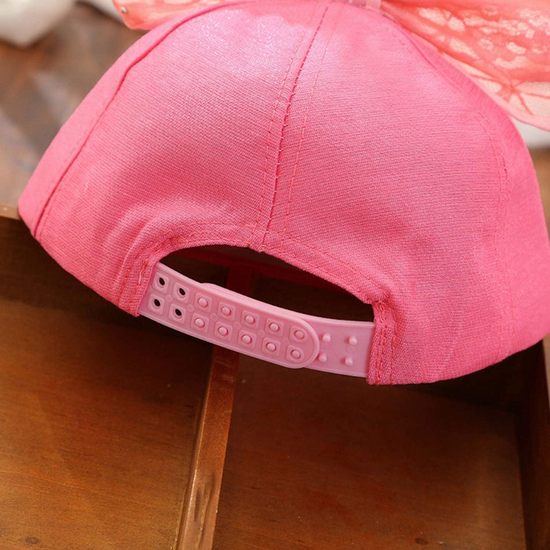 Childrens Cap Lace Big Bow Hat M Sequin Cap Pearl Baseball Cap