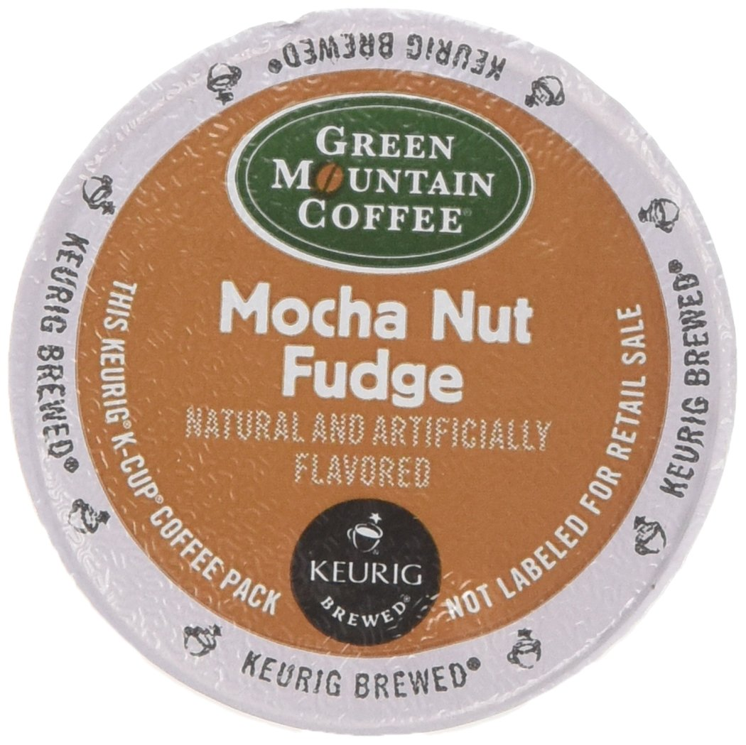 Green Mountain Coffee Mocha Nut Fudge, 24-Count K-Cups For Keurig Brewers (Pack of 2)