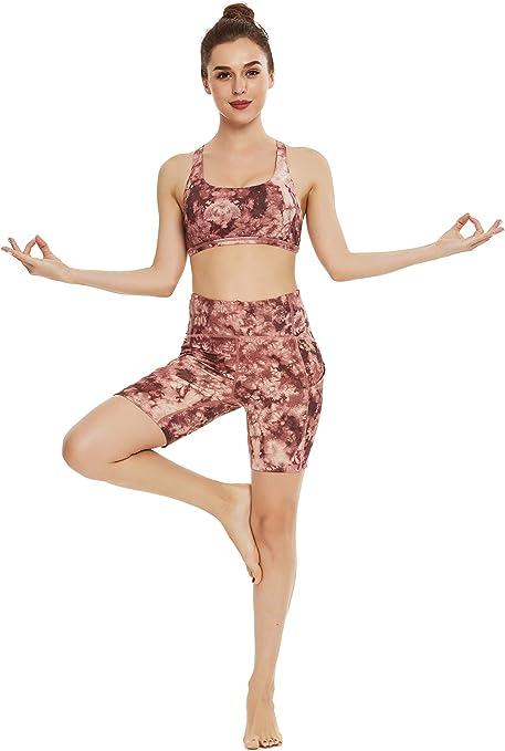 QUEENIEKE Pantaloncini Sportivi da Donna da 3,5 Pollici Inseam Allenamento a Vita Alta con Controllo della Pancia Esecuzione di Abbigliamento Sportivo per Palestra Fitness Danza