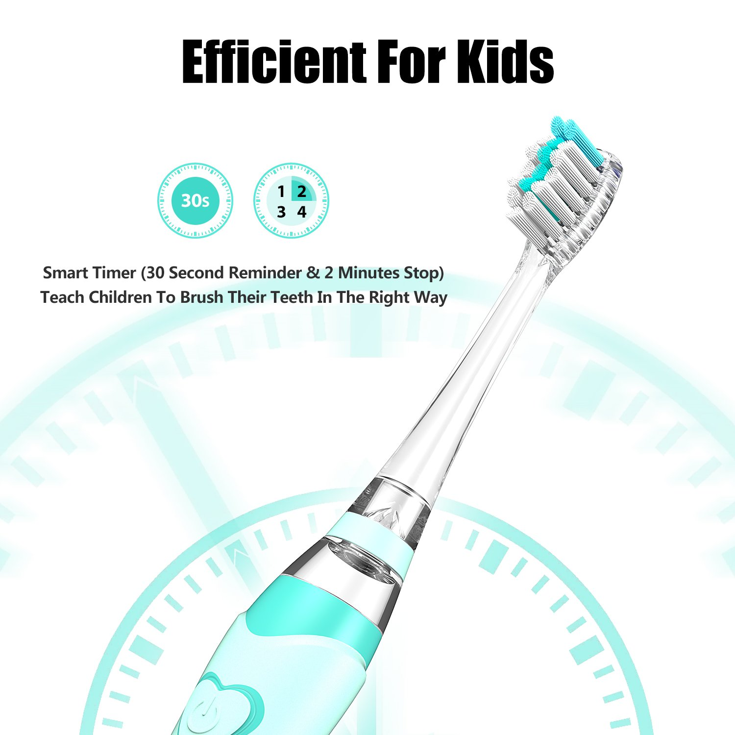 Amazon.com: Kids Electric Toothbrush, Soft Battery Tooth Brush with Timer Powered by Sonic Technology for Children Boys and Girls, Waterproof for Shower ...