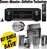 Denon AVR-S510BT 5.2 Channel Full 4K Ultra HD A/V Receiver With Bluetooth + Definitive Technology ProCinema 600 5.1 Speaker System Bundle