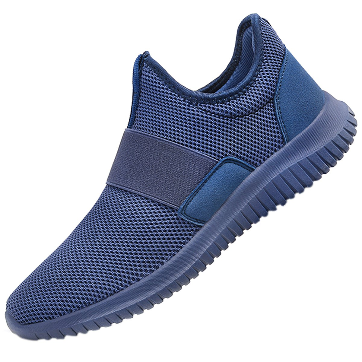 QANSI Mens Sneakers Mesh Breathable for Summer Athletic Running Walking Gym Shoes Comfortable Sports Tennis Shoes Blue
