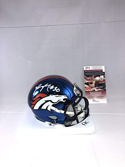 2b091a4bb3f Image Unavailable. Image not available for. Color  Phillip Lindsay Autographed  Signed Denver Broncos Chrome Mini Helmet Memorabilia JSA