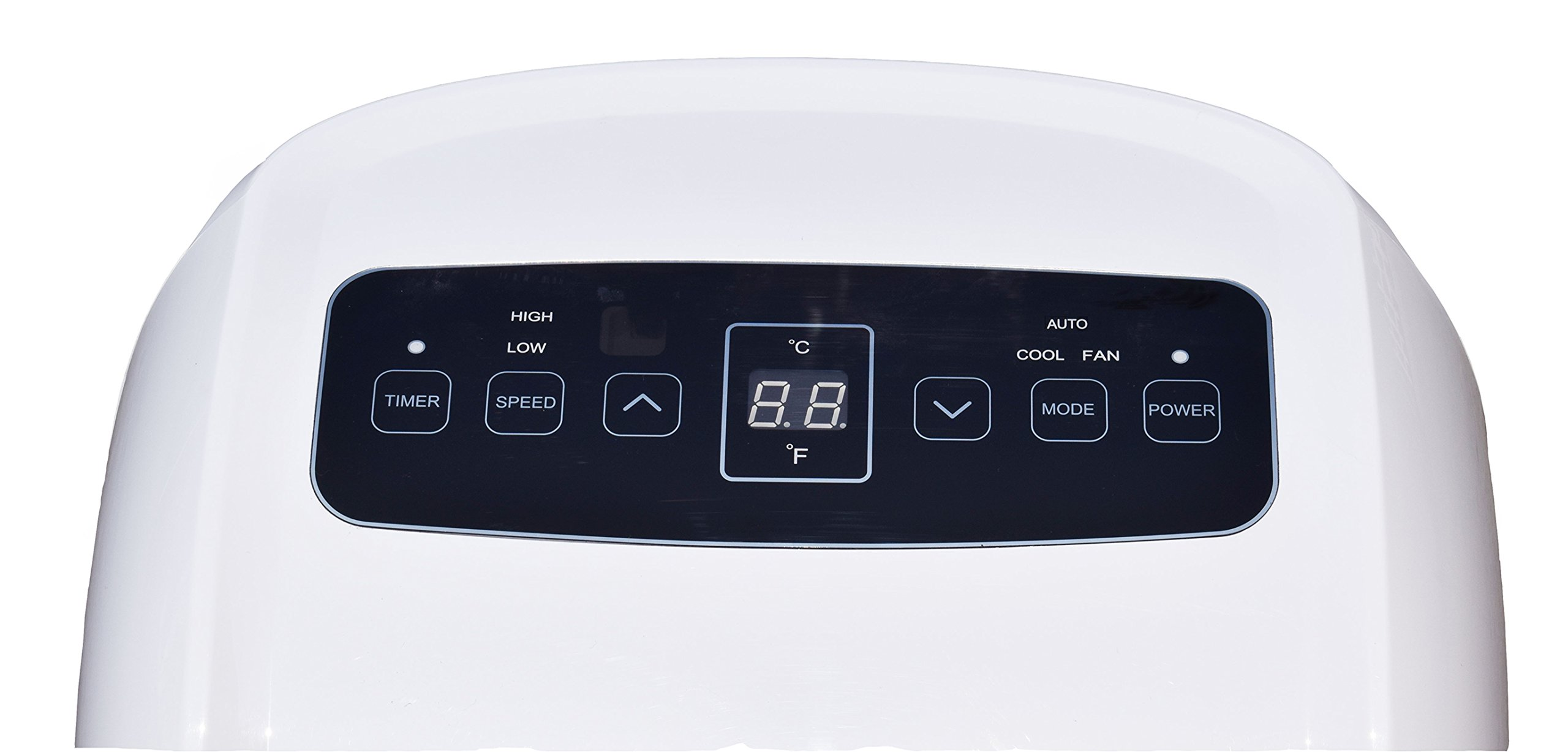 CCH YPLA-08C Portable Air Conditioner 5 Ultra compact for easy handling and positioning. Weighs only 47 lbs 8,000 BTU's of cooling power keeps a room up to250 sq. Ft. Cool and comfortable and partially Cools an Area up to 350 sq.Ft Washable and reusable air filter saves money on Replacements