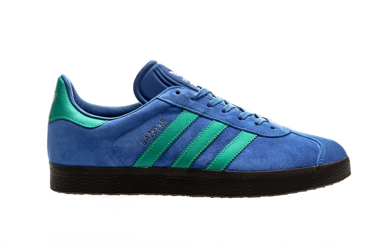 Adidas Originals Gazelle, Zapatillas Casual Unisex Adulto 4,5|blue-core green-gum