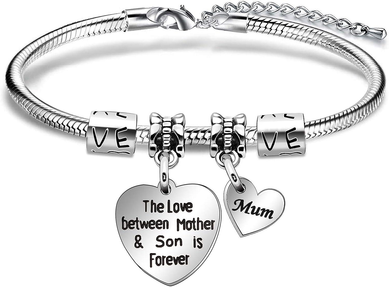 bracelet,mum,silver,silver