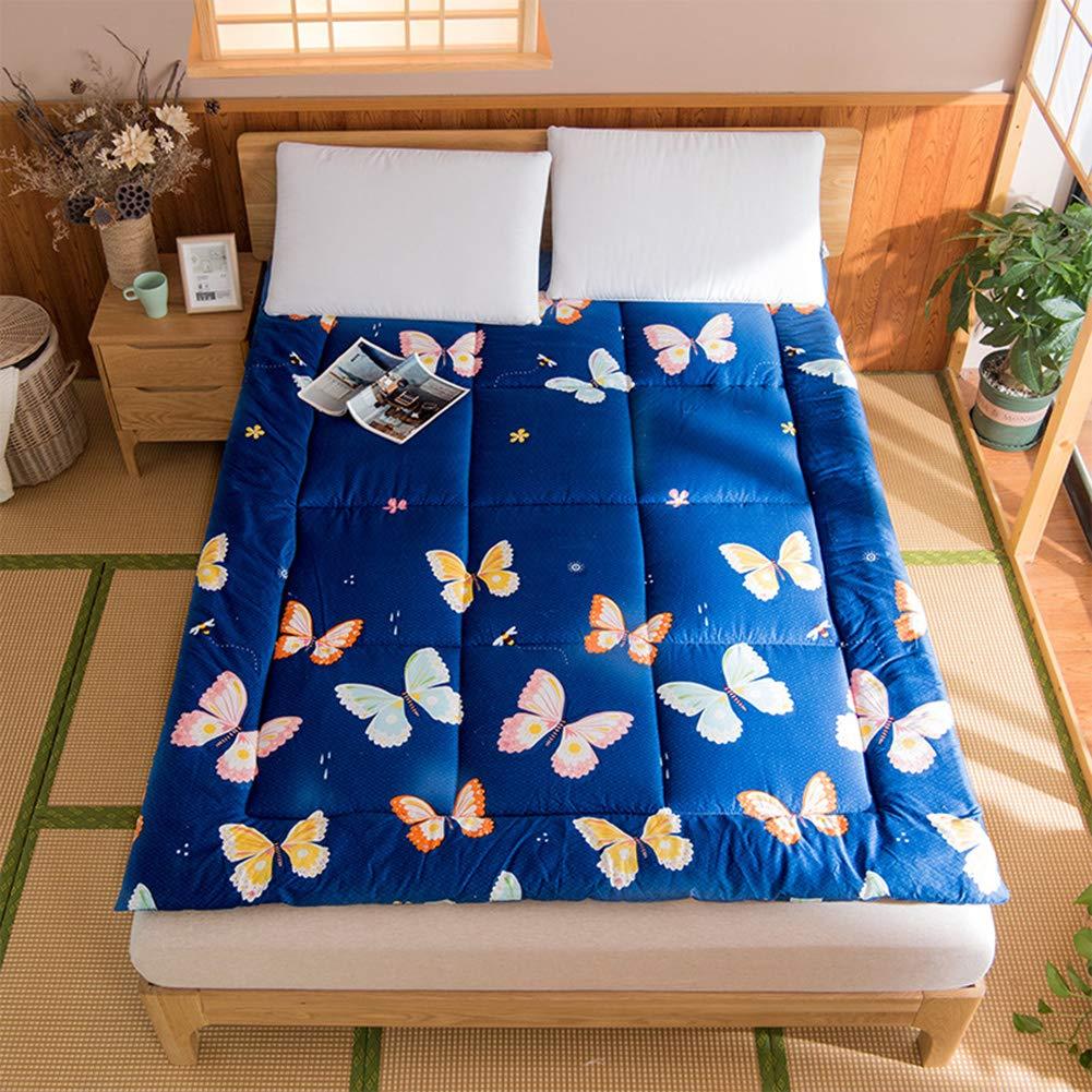 DGPOAD Floor Mattress Futon Mattress,Breathable Tatami Fold Futon,Thick Tatami Mattress,Double Japanese Sleeping Pad,Soft Futon Floor Mattress,Foldable Roll Up Floor Mattress,A,90x200cm