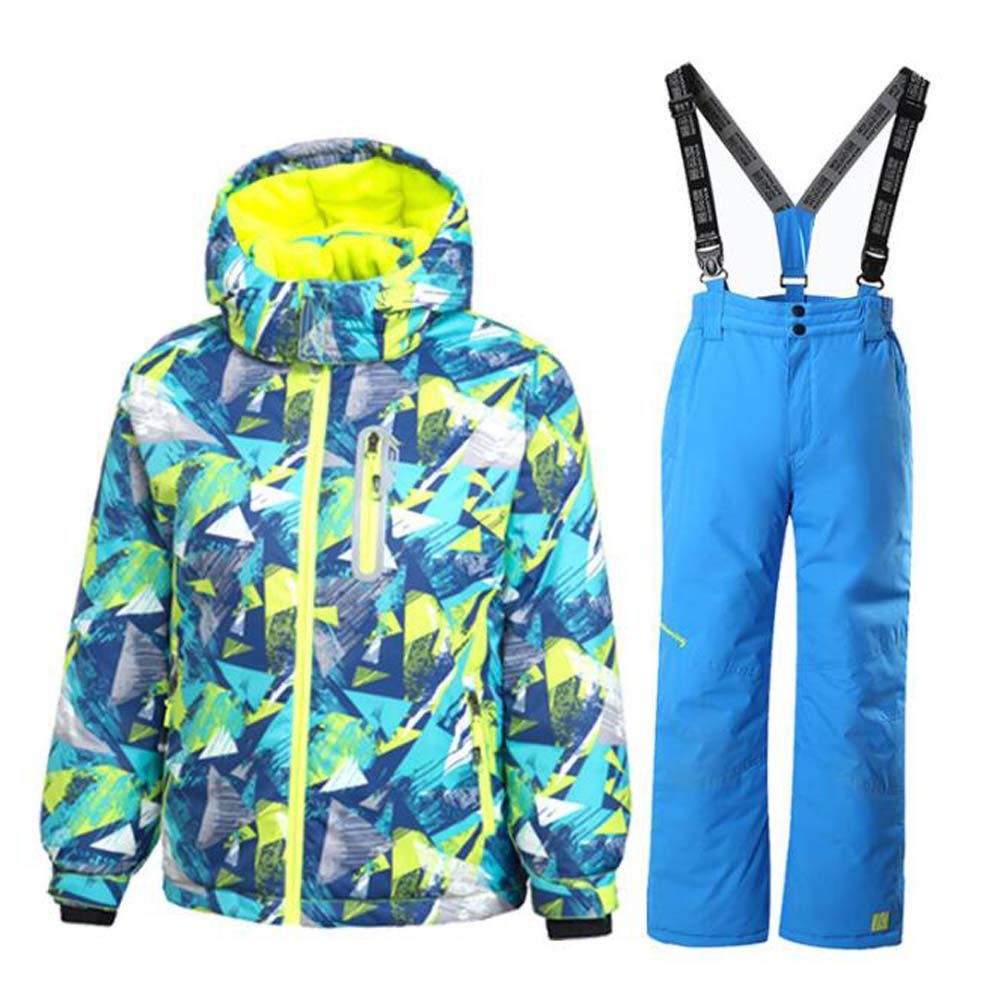 GS SNOWING Boy's Ski Jacket and Pants Snow Insulated Suit Windproof & Waterproof hx30