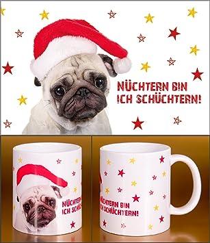 Mops Bilder Weihnachten.Witziger Henkelbecher Glühweinbecher Weihnachten Advent Süßer Mops