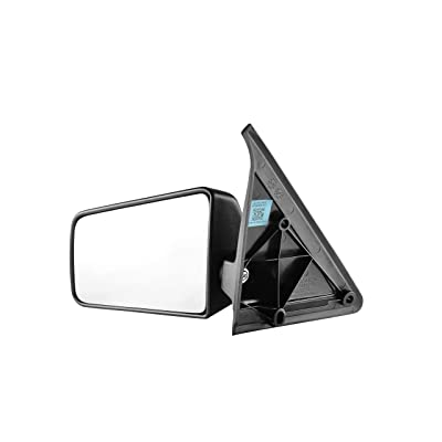 Driver Side Textured Side View Mirror for 1985-1994 Chevrolet S10 Blazer, 1992-1994 GMC Jimmy, 1985-1993 Chevrolet S10, 1985-1991 GMC S15 Jimmy, 1985-1990 GMC S15: Automotive
