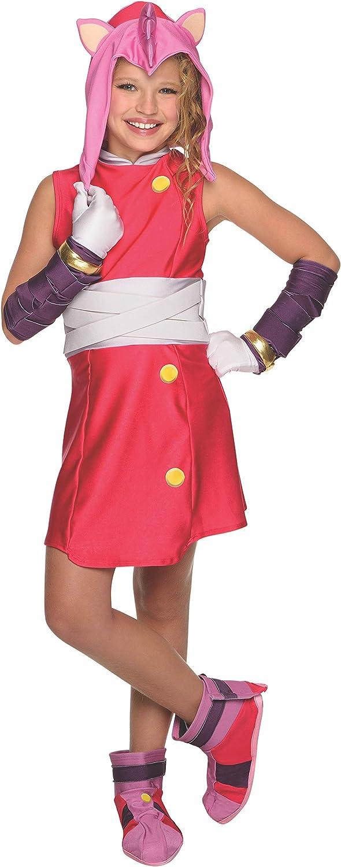Disfraz de Amy Sonic para niña: Amazon.es: Juguetes y juegos