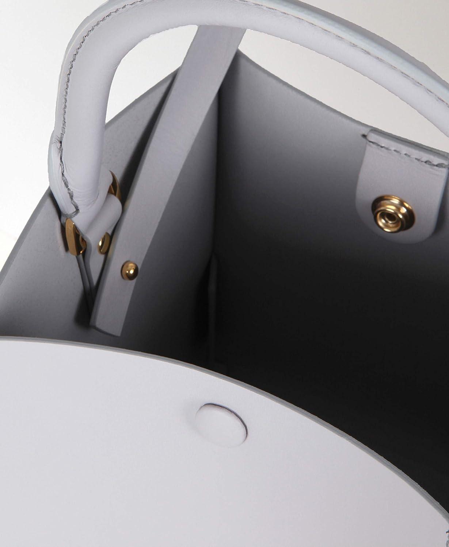 Sophie Hulme Nano Albion kubväska greppa axel fyrkantig påse snygg handväska present Ljusgrå