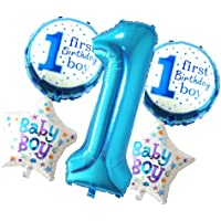 MagiDeal Set Of 5 Cute Foil Balloons For Baby First Birthday Party Decoration