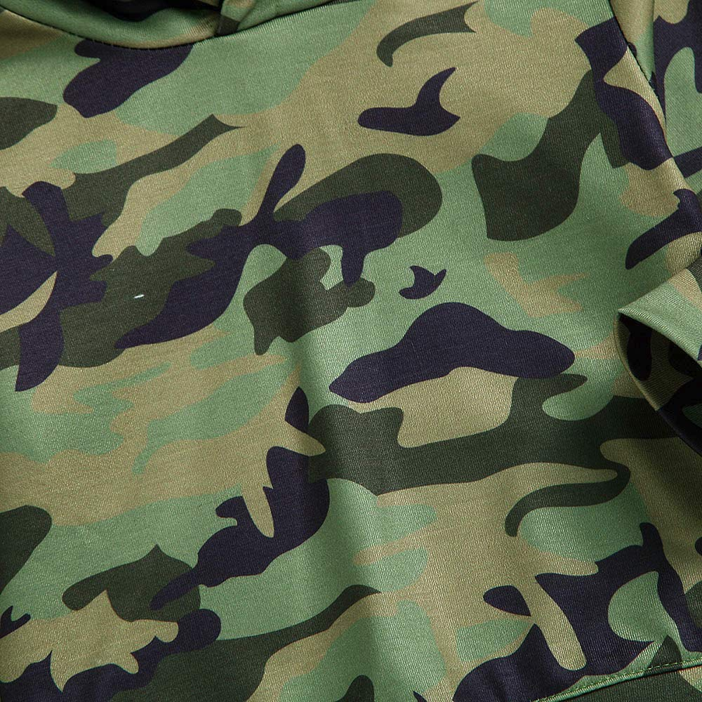Camouflage Clothing Sets for Boys,Zerototens Toddler Kids Baby Boys Green Cartoon Animal Ear Hoodie Tops Trousers Children Outfits Set Homewear Clothes 0-4 Years Old