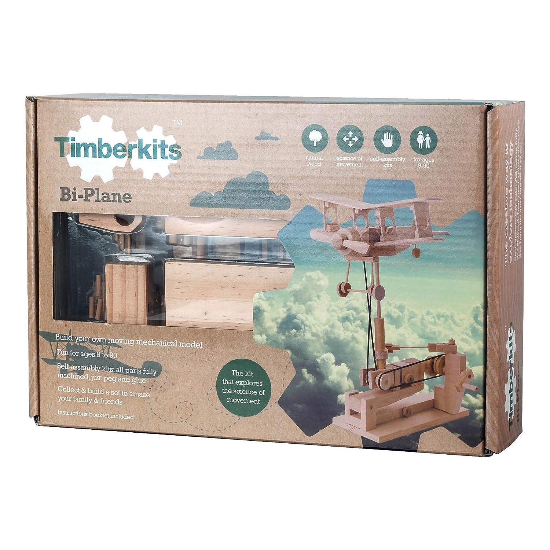 輝い S.T.E.A.M. Line S.T.E.A.M. バイプレーン Toys Toys Timberkits バイプレーン 機械式木製モデルキット B07K5KQHBL, イシイの甘栗点心手作りの店:8d25c4ac --- a0267596.xsph.ru