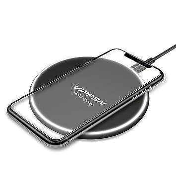 VIPFAN - Cargador inalámbrico para Samsung Galaxy S9 S9 Plus ...