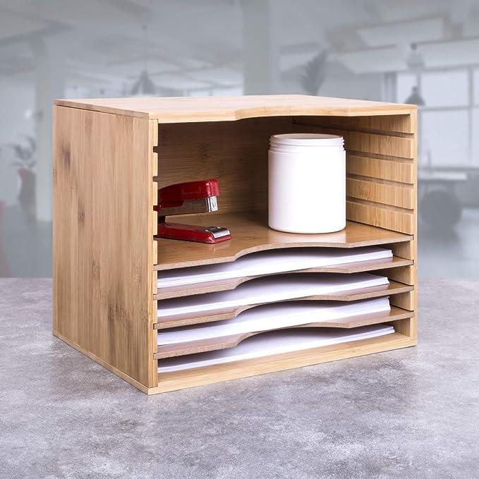 WoodLuv - Organizador fijo de papel y archivos A4 ajustable ...