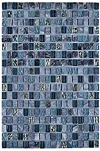 Legion Furniture MS-MIXED18 Mosaic Mix with Stone Wall Tile, Gray/Blue