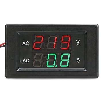 DROK® AC 300V 50A Digital-Voltmeter-Amperemeter, YB4835VA 2 ...