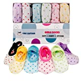 Amazon Price History for:Baby Socks For Toddler Girls With Non Skid Anti Slip, Best Gift, 1-3 Year Old Girl From Tiny Captain (Pink, Blue, Green, Yellow, Purple, White)