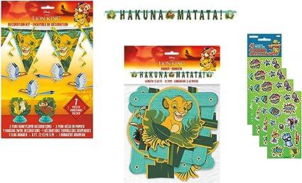 Amazon.com: Lion King - Juego de accesorios para decoración ...