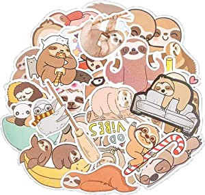 MSOLE 50PCS Sloth Stickers for Water Bottles Laptop HydroFlasks Aesthetic Decals for Mac Computer Phone Guitar Skateboard