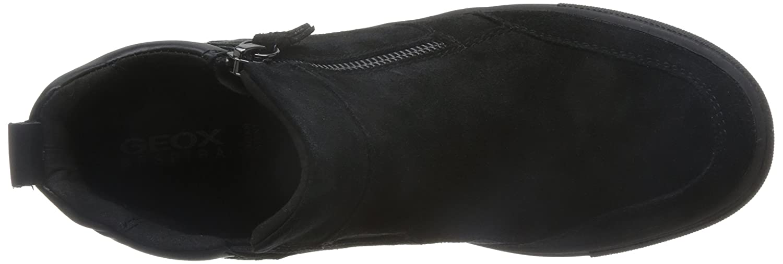 Geox D742QA Breeda Modischer Modischer Modischer knöchelhoher Damen Turnschuhe mit Seitlichem Reißverschluss und Gummizug für Perfekte Passform, Wechselfußbett 3201bd