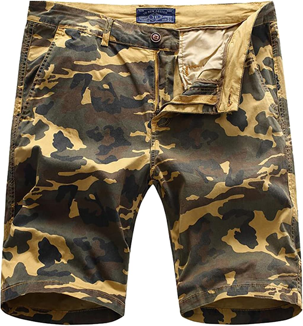 Generic Mens Relaxed Printed Fit Pocket Cotton Board Shorts
