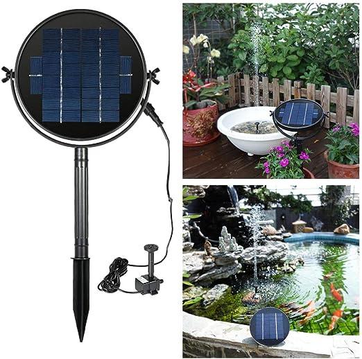 PoeHXtyy Bomba de Fuente Solar 9V 2W Bomba de Agua de Panel de energía Solar para birdbath Paisaje Piscina jardín Fuentes Decorativas: Amazon.es: Jardín