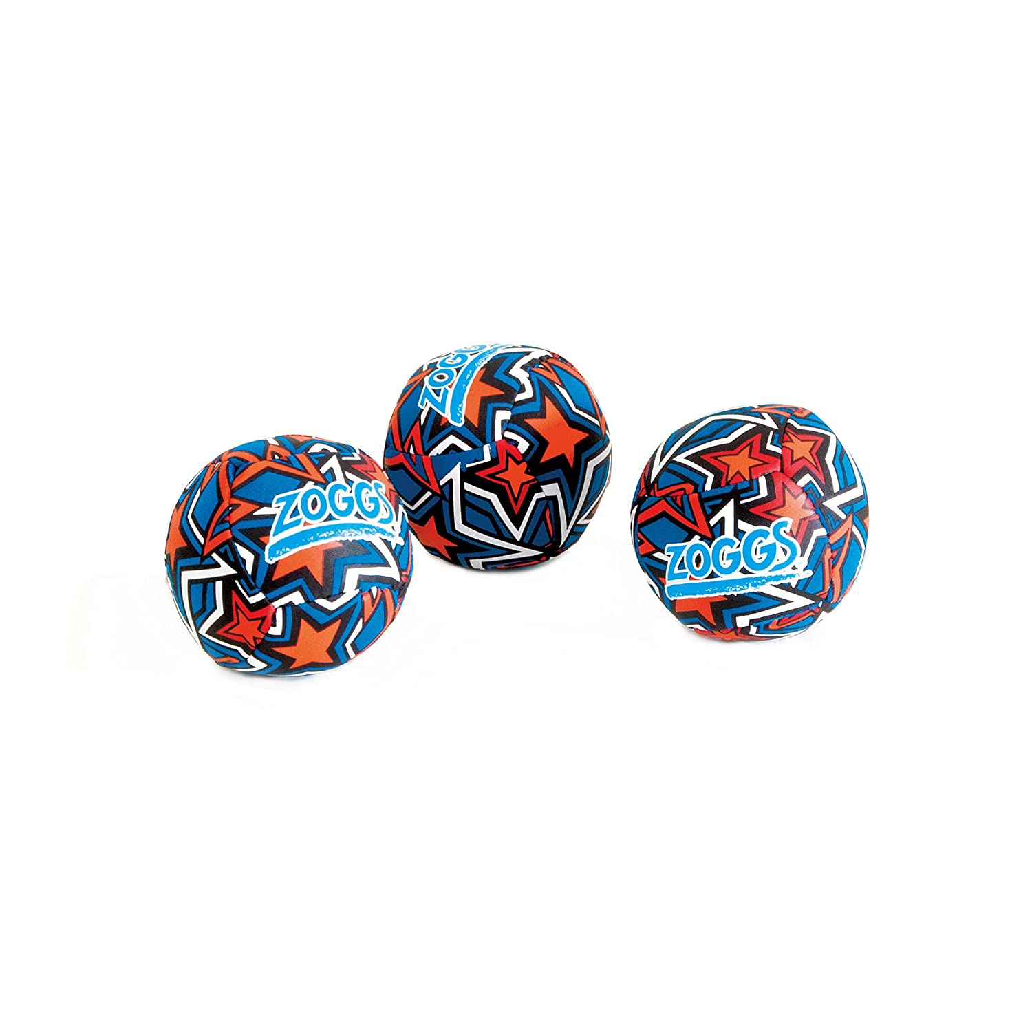 Zoggs Kids Water Friendly Splash Neoprene Covered Balls - Orange/Blue with Star Print