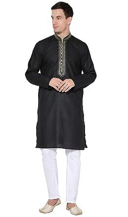 7d200ede1c SKAVIJ Men s Pure Cotton Handmade Traditional Kurta Pajama Clothing ...