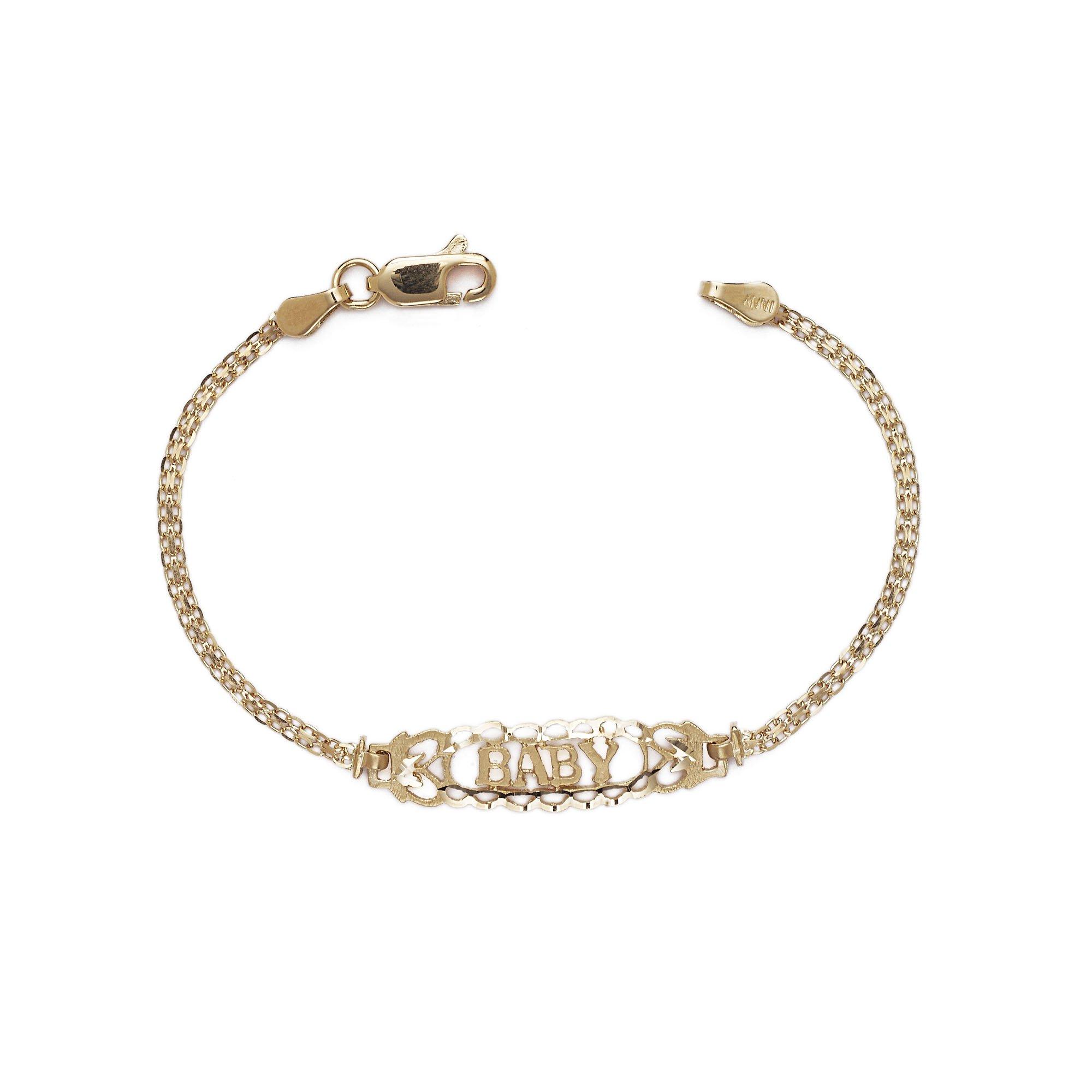 Kids Filigree Bracelet - 10k Yellow Gold - 5.5 Inch