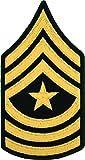 SGM E-9 Army Chevrons - Gold on Green