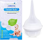Innovo Hospital Grade Silicone Twister Bulb Baby Nasal Aspirator and Ear Syringe, Snot Sucker and Mucus Sucker, Non-Toxic Nas