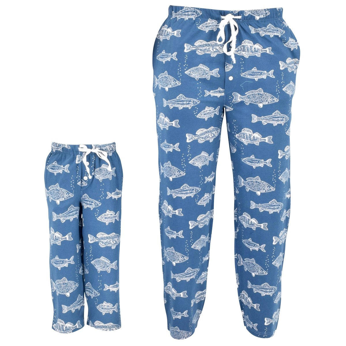Unique Baby UB Adult Fisherman Print Matching Family Father's Day Pajama Pants (M)