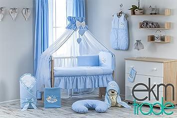 Teilig babyzimmer set weiß cm babyrbett mit bettwäsche