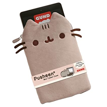 new concept b2043 6a367 GUND Pusheen Stuffed Animal Mini Tablet Case Cat Plush, 10