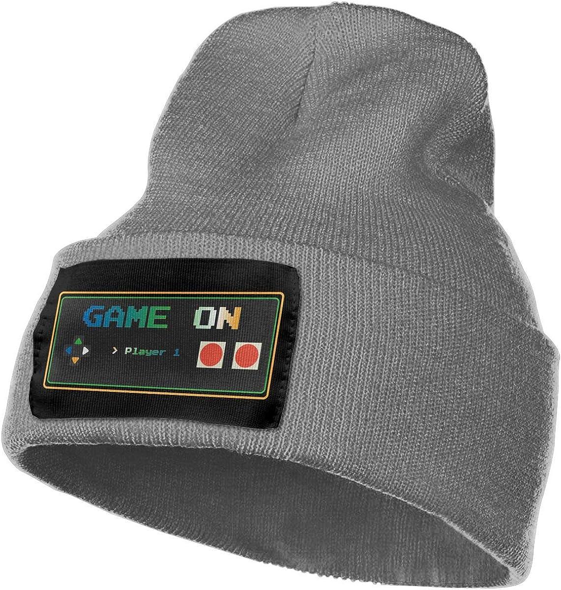 Game On Mens Beanie Cap Skull Cap Winter Warm Knitting Hats.