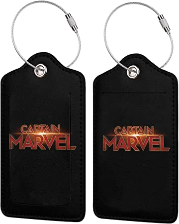 Big Cow Travel Luggage Tags With Full Privacy Cover Leather Case And Stainless Steel Loop