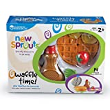 Learning Resources New Sprouts Waffle Time, Pretend Play Food Set, 14 Piece Set, Ages 18