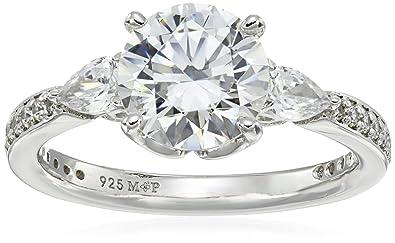 """30f8eb429 Myia Passiello """"Timeless"""" Swarovski Zirconia Three Stone Ring ..."""