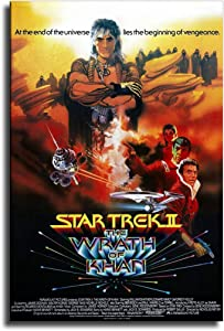 MINGYUE The Wrath of Khan Movie Poster Wall Art Picture Cuadros for Artwork Poster Canvas Painting Home Decoration -658 (No Frame,24x36 inch)