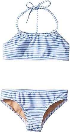 ceb7d27ecd Toobydoo Baby Girl's Watercolor Blue Bandeau Halter Bikini (Infant/Toddler/Little  Kids/