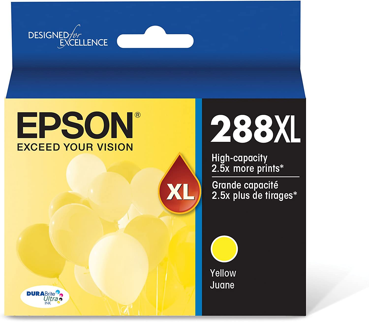 in Retail Packaging Epson T288XL120 288XL Expression Home XP-330 340 430 434 440 446 Ink Cartridge Black