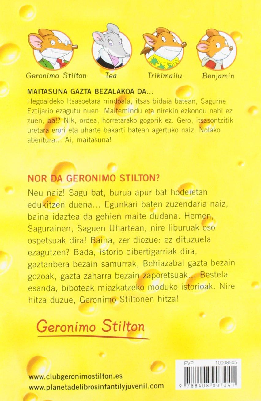 Maitasuna gazta bezalakoa da: Geronimo Stilton Euskera 13 Libros en euskera: Amazon.es: Geronimo Stilton, Koldo Biguri: Libros