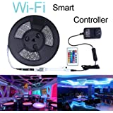 Miheal Led Light Strip,WiFi Wireless Smart Phone Controlled Strip Light Kit 32.8ft 300leds 5050 Waterproof IP65 LED Lights,Working Android iOS System,Alexa …
