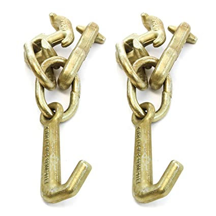 Red Hound Auto 2 Cluster Hooks R T J Wrecker Tow Truck Car Trailer RT J Chain Hook RTJ Pair