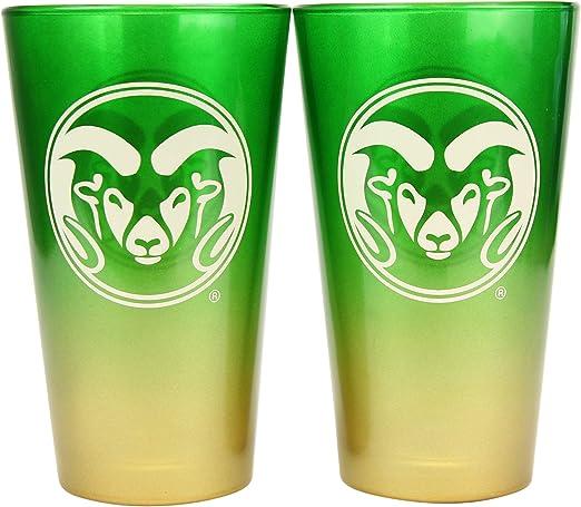 NCAA 16 oz BYU Cougars 2-Tone Pint Glass Set