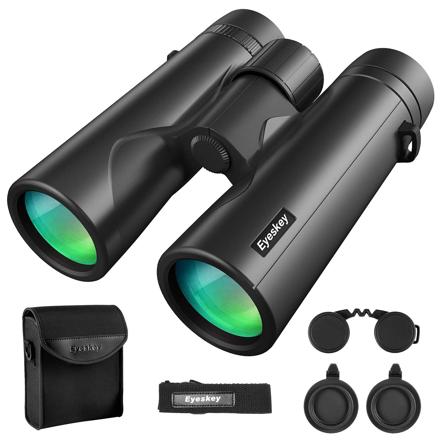Eyeskey 8X42 Binoculars for Adults Compact Lightweight Fully Waterproof Fog-Proof Wild Field of View Low-Light Vision HD Binocular for Wildlife Watching Hunting